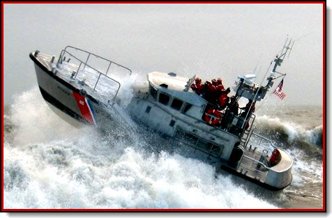 How's your watertight integrity? US Coast Guard surfboats are built with the ultimate in watertight integrity to keep afloat. Would you rather have your sailboat take care of you and your sailing crew in survival conditions like this or risk launching and boarding a liferaft?